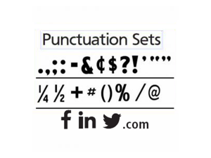 Punctuation Sets