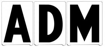 "6"" ADM Pronto Letters"